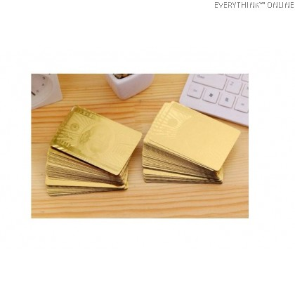 EVON PREMIUM LUXURY GOLD FOIL SILVER BLACK POKER CARD WATERPROOF FOLDABLE PLAYING CARDS DECK MAGIC CARD 52 + 2 CARDS