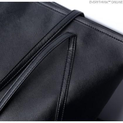 EVON PREMIUM SD003 SHOULDER BAG CARRY HANDBAG FASHION WOMEN BAGS BIG CAPACITY PREMIUM PU LEATHER ZIPPER DURABLE HANDLE