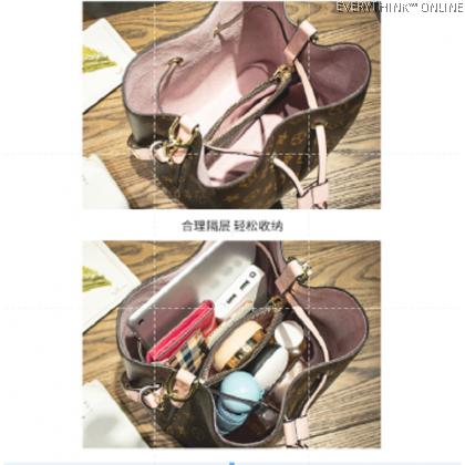 EVON PREMIUM BK001 GC PREMIUM BUCKET SLING BAG HYBRID LEATHER HANDBAG CARRY BIG CAPACITY WATERPROOF ADJUSTABLE STRAP