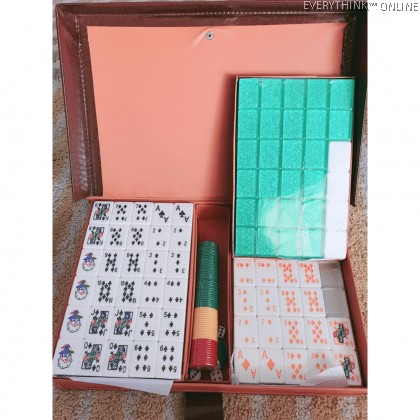 A1 38MM 40MM MALAYSIA MAHJONG LAMI POKER RUMMY FULLSET CRYSTAL GOLD PVC CASE 4 PLAYERS 3 PLAYER FULL SET MALAYSIA LAMI
